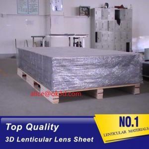 China 3D Lenticular sheet 40LPI board 120x240cm, 3.95mm lenticular sheet for 3d and flip lenticular effect by injekt print wholesale