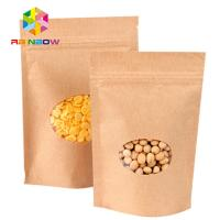 China custom order food grade ziplock stand up kraft paper bag for food wholesale