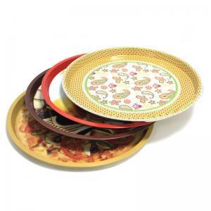 China custom metal round fruit tin trays wholesale