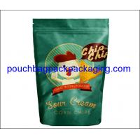 China Stand up foil pouch with zip lock for Snow cream corn chips, aluminium doypack for chips on sale