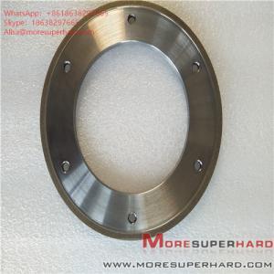 China 164*6*105*3*3 Metal Bond Diamond Grinding Wheel for Glass Machine ALisa@moresuperhard.com wholesale
