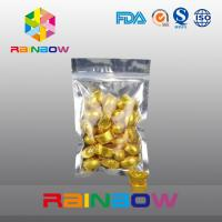 China 100g Snack Bags Packaging Front Transprent Back Foil With Zipper wholesale