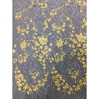 China Bridal Embroidered Tulle Fabric / Mesh Lace Fabric With Colorful Flowers 100% Polyester wholesale