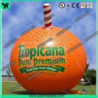 China Event Advertising Inflatable Fruits Model Orange Replica/Promotion Inflatable Fruits wholesale