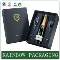 China Luxury wine glass paper box packaging ,  paperboard box , factory custom wine box wholesale