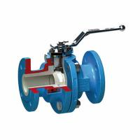 China Lined Pneumatic Speed Control Valve Blue Ball Valve Stainless Steel Material wholesale