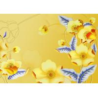 China Yellow Color Not Deformed Interior Wall Panels Tv Background Easy To Clean wholesale