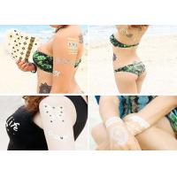 China Water Transfer Flash Metallic Tattoo Stickers Gold Foiled Body Decoration wholesale