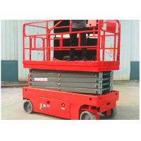 China Single Man Pneumatic Pallet Mobile Scissor Lift Table AC / DC Power Supply wholesale
