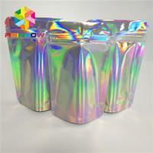 China Ziplock Hologram Snack Food Packaging Bags Custom For Eyelash / Brush / Jewelry wholesale