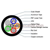 China Outdoor 12 Core Armoured Fiber Optic Cable GDTA Optical Power Composite Cable wholesale