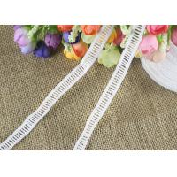 China Polyester Ladder Water Soluble Chemical Lace Trim By The Yard Good Color Fastness wholesale