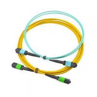 Buy cheap MPO female connector 12 core single mode Trunk fiber optic Cable Assemblies for from wholesalers