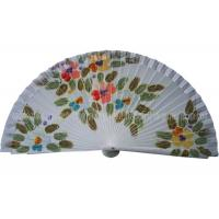 Hand drawn Patterns Wooden Hand Fans For Gift , Souvenirs , holiday parties