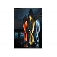 China Painted Number Eight Stainless Steel Sculpture for Modern Outdoor Decoration wholesale