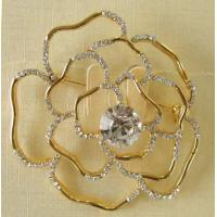 Buy cheap Nice Gold Flower Brooch from wholesalers
