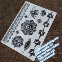 China Stunning black henna temporary tattoo sticker YHB007 wholesale