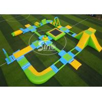 China Custom Design Giant Floating Inflatable Aqua Amusement Park For Summer Outdoor Water Playing on sale