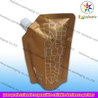 China side spout pouch packaging for drink, bottom gusset bag wholesale