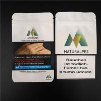 China THC CBD Gummies Herbal Incense Packaging Biodegradable White Kraft Bags Food Pouches wholesale