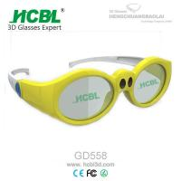 China Yellow / Pink / Purple Kid 3d active shutter glasses For Xpand Cinema System wholesale