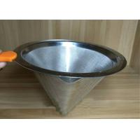 China Professional Ceramic Stainless Steel Filter Cup Custom Hole Pattern And Size wholesale