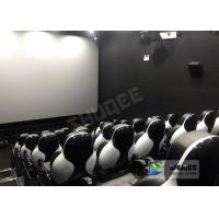 China Customize Seats 5D Theater System Leather And Fiberglass Material wholesale