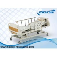 China Anti-Rust Intensive Care Beds , Semi Automatic Medical Bed With Castors wholesale