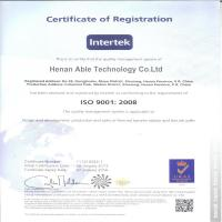 Henan Able Tech Co., Ltd. Certifications