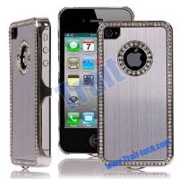 China Brushed Aluminium Metal Skin Diamond Edge Silver Electroplating Case Cover for iPhone 4 / iPhone 4S wholesale