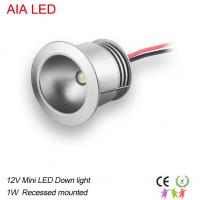 China 1W AC/DC12V mini waterproof IP42 indoor LED spot light/ led down lamp wholesale