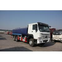 China Howo 20 CBM White Sewage Waste Truck / 6x4 336HP Safety Sewer Cleaning Truck  wholesale