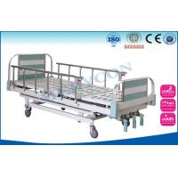 China Aluminium Side Rails Manual Hospital Bed , Manual Hand Crank Bed PP/ABS wholesale