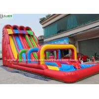 China 8m High Red Commercial Inflatable Water Slides Playing Centers Use on sale