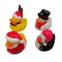 China Christmas Yellow Rubber Ducks Baby Tub Toys Cute Deer / Penguin Pattern wholesale