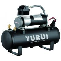 China 12V 150PSI Air Source Kits Onboard Air Systems 1.5 Gallon Tanks Black Metal For Fast Inflation wholesale