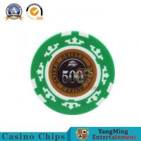 China 45mm Casino Diamond Poker Chips Sets Texas Hold 'Em Poker 13.5/G Clay Composite With Inner Metal wholesale