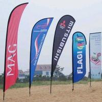 China Durable custom feather flags double sided Full Color Imprints wholesale