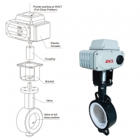 China SS316 Electric Butterfly Valve on sale