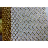 China Bronze Galvanized Coated Decorative Metal Mesh For Building Material on sale