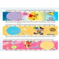 China OK3D 3D PET ruler Cartoon lenticular 3d plastic folding ruler 3D Lenticular Printed Plastic Straight ruler for school wholesale