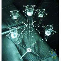 China CH (37) tall Acrylic pillar candle holders wholesale