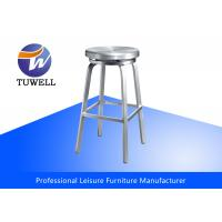 China Round EMECO Navy Stool Aluminum Backless Navy Bar Stool With Swivel Seat wholesale
