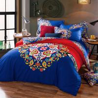 China Cotton Hotel Collection 6 Piece Bedding Comforter Sets Embroidered Flower Queen Size wholesale