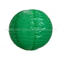 China Single Color Printing Round Nylon Lantern Outdoor For Party , Home Decoration wholesale