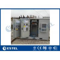 China 3 Bay Air Conditioner Cooling System Outdoor Base Station With Battery Layers And Rack Rails wholesale