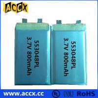 China 553048PL 3.7V 800mAh  Mini speaker and GPS rechargeable battery wholesale