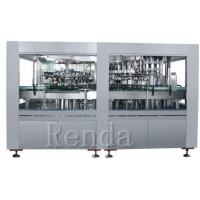 China 1L Glass Bottle Wine Filling Machine With Cork Capping Straight Liner Machine wholesale