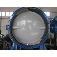 Automatic Double Flanged Butterfly Valves Flanged Resilient Sealing DN2000