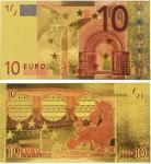 China Euro 10 USD Gold Banknote Gold Money wholesale